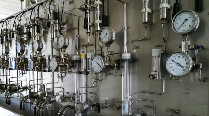 Steam and Water Sampling Panel in Power Plant