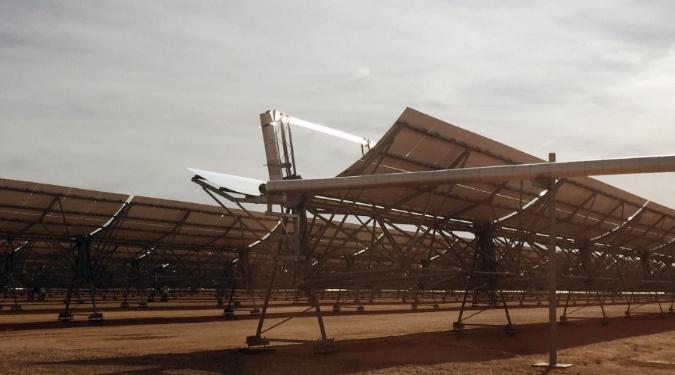 Solar Power Plant In the Arizona Desert - Solar Panels