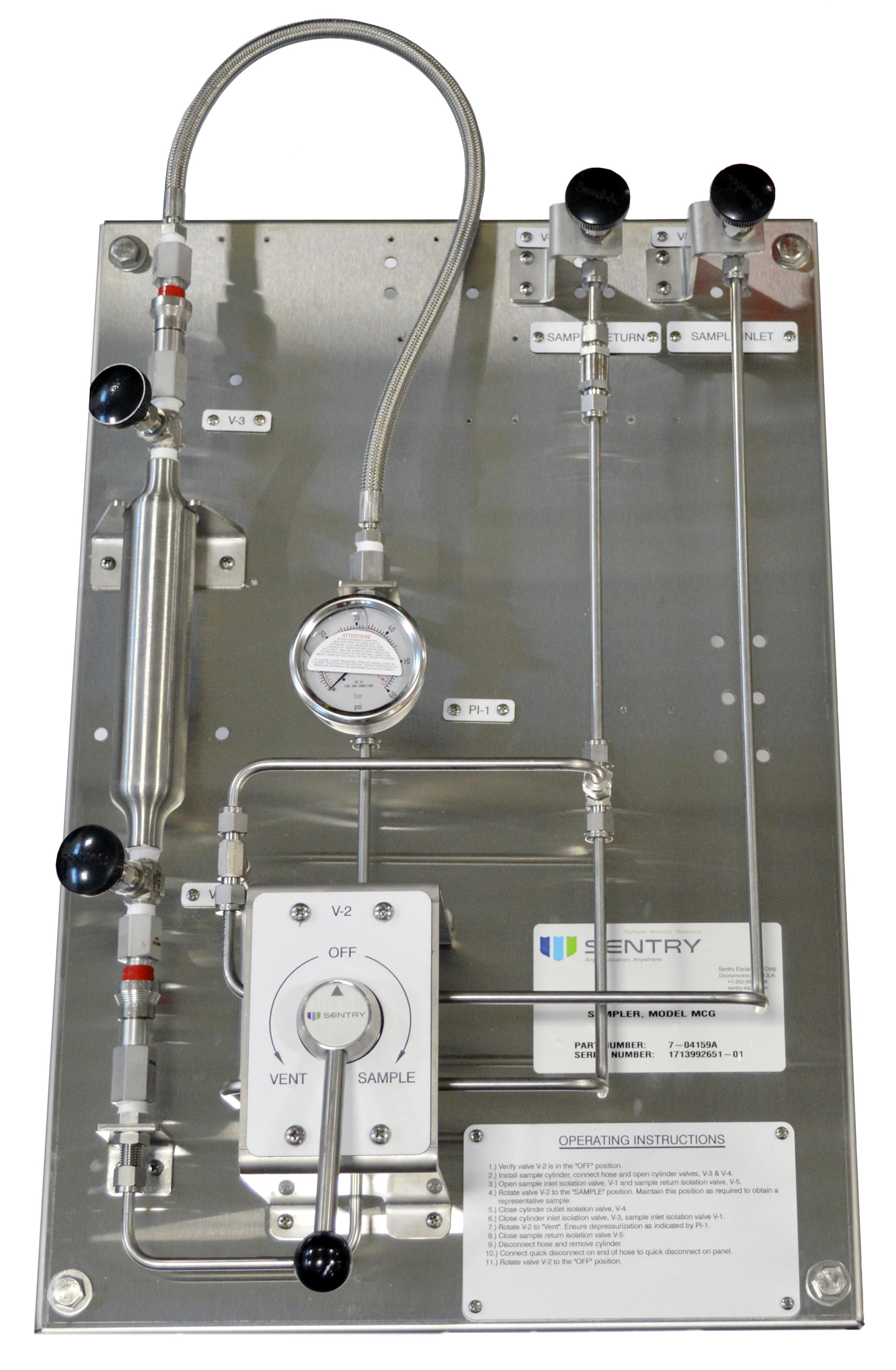 Sentry MCG Panel for Gas Sampling