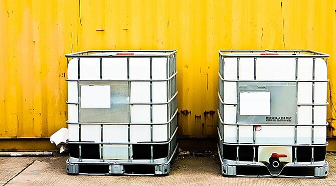 Chemical containers waiting for sampling