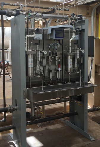 Sentry installed sampling panel provides safe steam and water monitoring