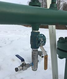 A Sentry Corrosion Monitoring Drip Pot