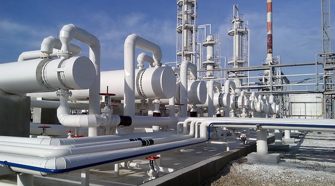 Heat exchangers at a refinery