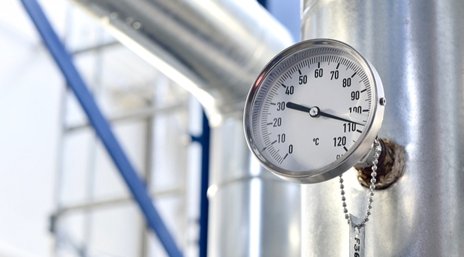 Water temperatures in process plants